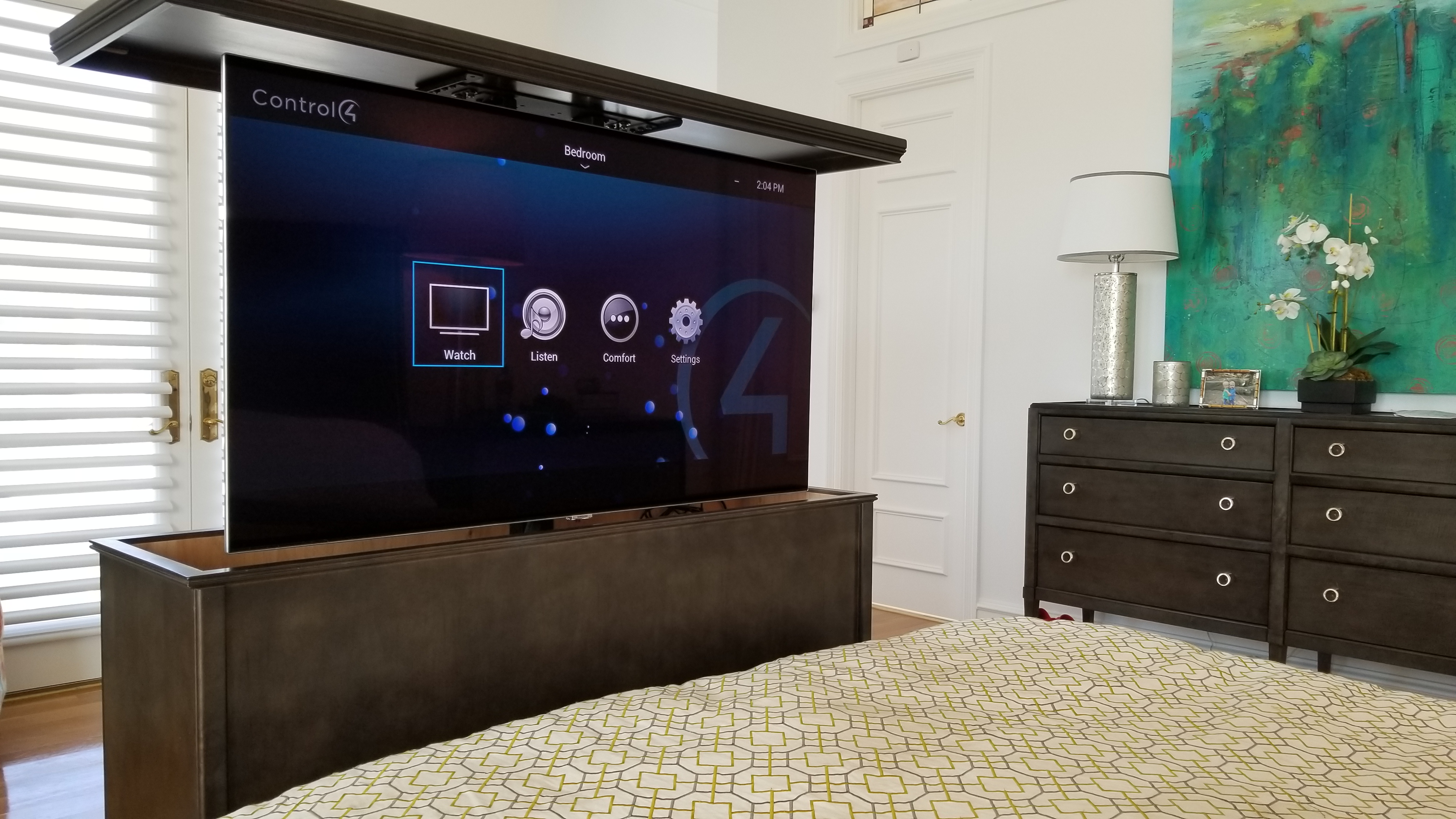 bedroom tv lift audio video systems